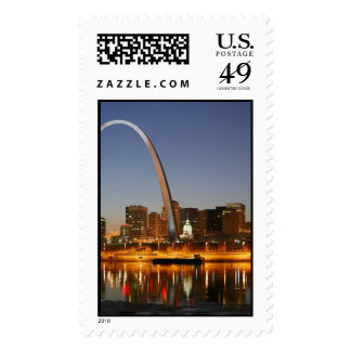 Gateway Arch St. Louis Mississippi at Night Stamps