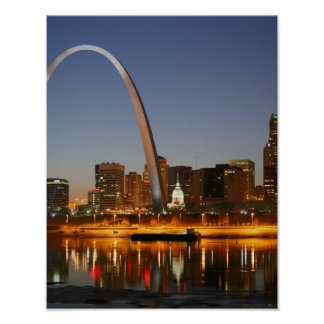 Gateway Arch St. Louis Mississippi at Night Posters