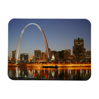 Gateway Arch St Louis Mississippi at Night Rectangular Magnets