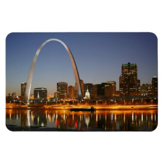 Gateway Arch St Louis Mississippi at Night Rectangle Magnet
