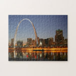 Gateway Arch St. Louis Mississippi at Night Puzzles