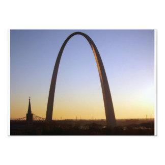 """Gateway Arch, St. Louis, MO 5"""" X 7"""" Invitation Card"""