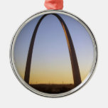 Gateway Arch, St. Louis, MO Round Metal Christmas Ornament