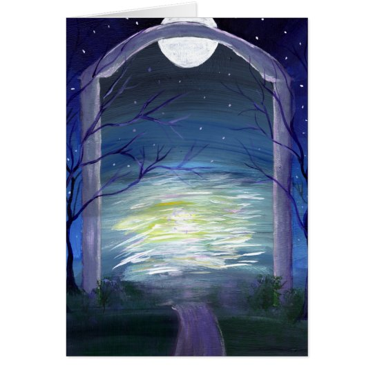 Gateway at the Edge of Forever: Fae Haven Greeting Card