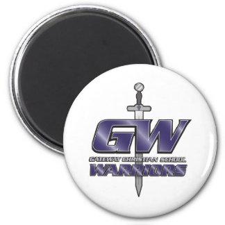 Gateway Christian School Gear 2 Inch Round Magnet