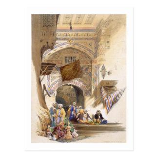 Gateway of a Bazaar, Grand Cairo, pub. 1846 (litho Postcard