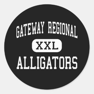 Gateway Regional - Alligators - High - Huntington Classic Round Sticker
