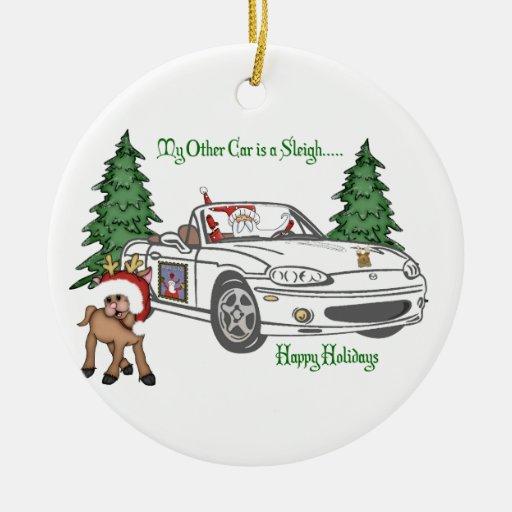 Gateway-Santa's Sleigh-White Christmas Ornament
