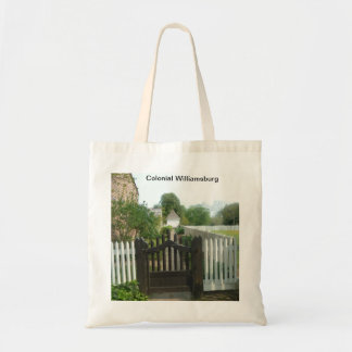 Gateway to 18th century Colonial Williamsburg Tote Bag