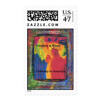 Gateway to America painting Postage