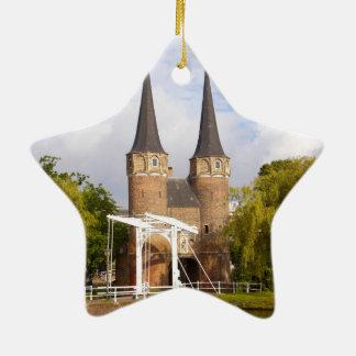 Gateway to Delft Ceramic Ornament