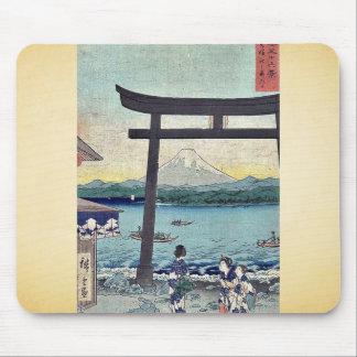 Gateway to Enoshima in Sagami by Ando,Hiroshige Mouse Pad