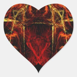 Gateway to Eternal Torture Heart Sticker