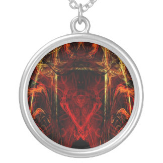 Gateway to Eternal Torture Round Pendant Necklace