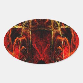 Gateway to Eternal Torture Oval Sticker