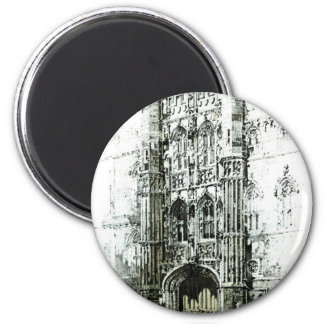 Gateway to Kings College 2 Inch Round Magnet