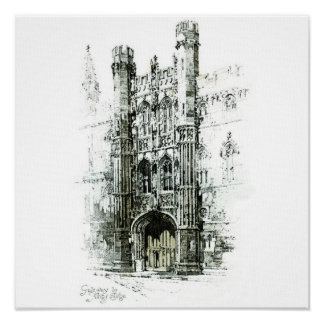 Gateway to Kings College Canvas Posters