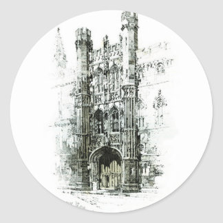 Gateway to Kings College Classic Round Sticker