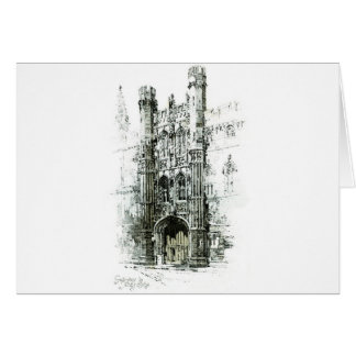Gateway to Kings College Greeting Cards