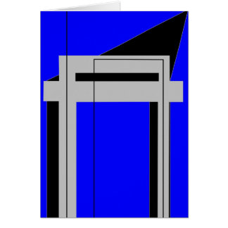 Gateway to Life - Blue Greeting Card