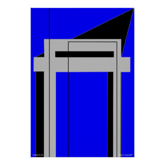 Gateway to Life - Blue Poster