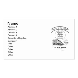 Gateway to New England,New Haven Railroad Double-Sided Standard Business Cards (Pack Of 100)