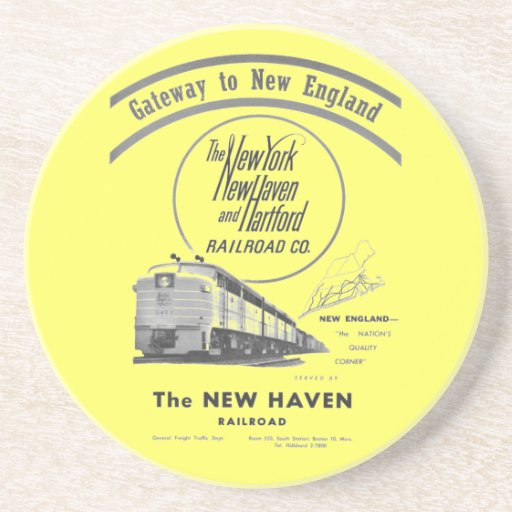 Gateway to New England,New Haven Railroad Beverage Coaster