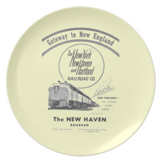 Gateway to New England,New Haven Railroad Melamine Dinner Plate