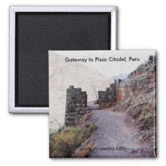 Gateway to Pisac Citadel, Peru 2 Inch Square Magnet