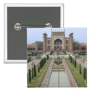 Gateway to Taj Mahal, India 2 Inch Square Button