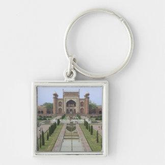 Gateway to Taj Mahal, India Silver-Colored Square Keychain