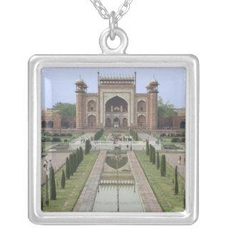 Gateway to Taj Mahal, India Square Pendant Necklace