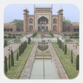 Gateway to Taj Mahal, India Square Sticker