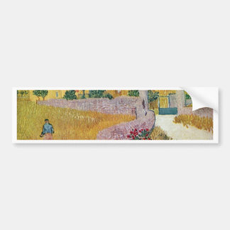 Gateway To The Farm By Vincent Van Gogh Bumper Stickers