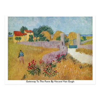 Gateway To The Farm By Vincent Van Gogh Postcards