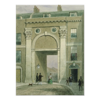 Gateway to the River, Essex Street, 1857 Poster