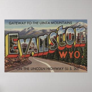 Gateway to the Uinta Mountains - Evanston, WY Poster
