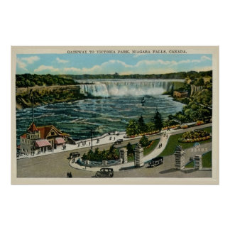 Gateway to Victoria Park, Niagara Falls, Canada Posters