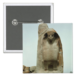 Gateway with carved Sphinx Pinback Button