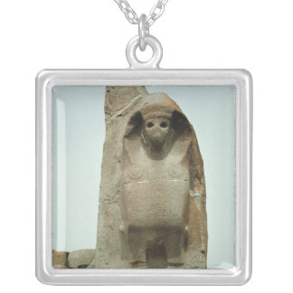 Gateway with carved Sphinx Silver Plated Necklace