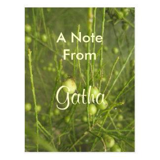 Gatha girls name product postcard