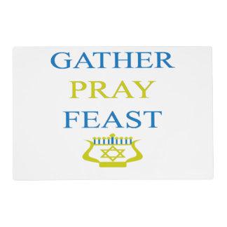 Gather Pray Feast Hanukkah Placemat