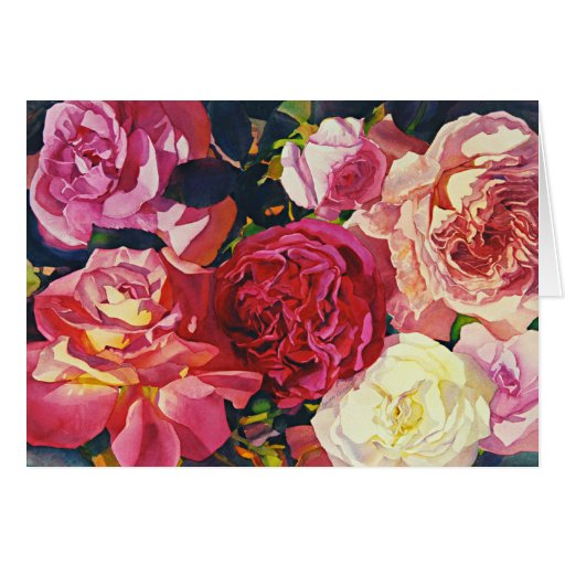 """""""Gather Roses!"""" Card"""