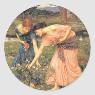 Gather  Roses While Ye May - Women Picking Flowers Stickers
