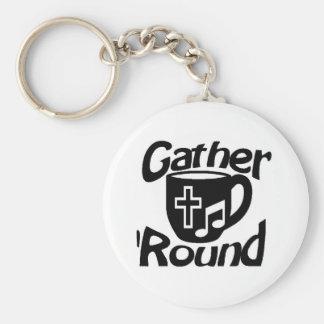 Gather Round Basic Round Button Keychain