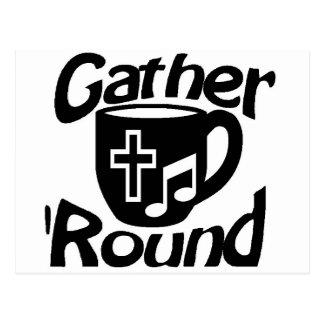 Gather Round Postcard