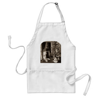 Gather 'round the Tree - Vintage Stereoview Adult Apron