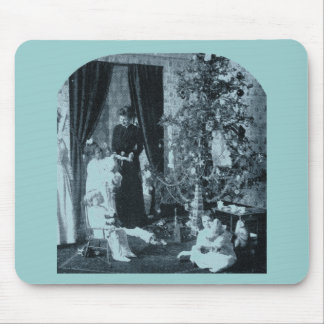 Gather 'round the Tree - Vintage Stereoview Mouse Pad