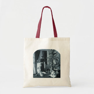 Gather 'round the Tree - Vintage Stereoview Tote Bag