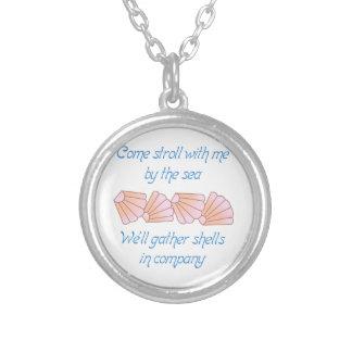Gather Seashells Round Pendant Necklace